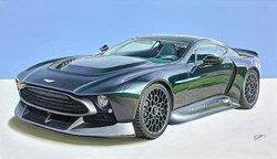 2020 Aston Martin Victor by Roz Wilson - Varnished Original Painting on Stretched Canvas sized 38x22 inches. Available from Whitewall Galleries